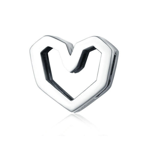 BAMOER SIMPLE STYLE HEART 925 SILVER BEADS SCX102