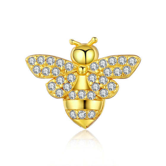 Beads & Jewelry Making Genuine 925 Sterling Silver The Little Bee Animal Pendant Fit Original Reflexions Pandora Bracelet Diy Charms Jewelry