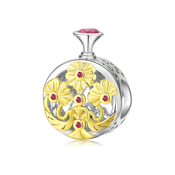 Chrysanthemum Flower Charm for Original Silver Braeclet Perfume Bottle Design Jewelry SCC1390 | BAMOER