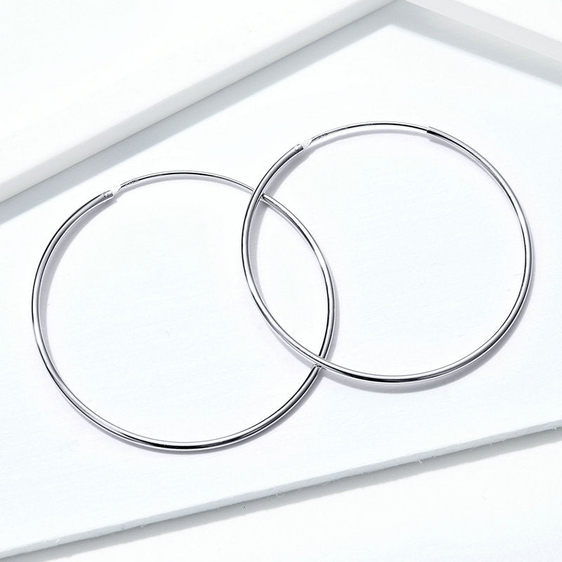 BAMOER ROUND EARRING GIFT JEWELRY FOR WOMEN SCE598