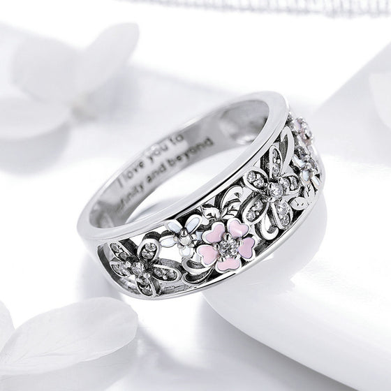 925 Sterling Silver Daisy Flower Rings for Women Wedding Engagement Jewelry | BAMOER