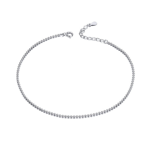 BAMOER 925 SILVER ANKLET JEWELRY SCT002 | BAMOER