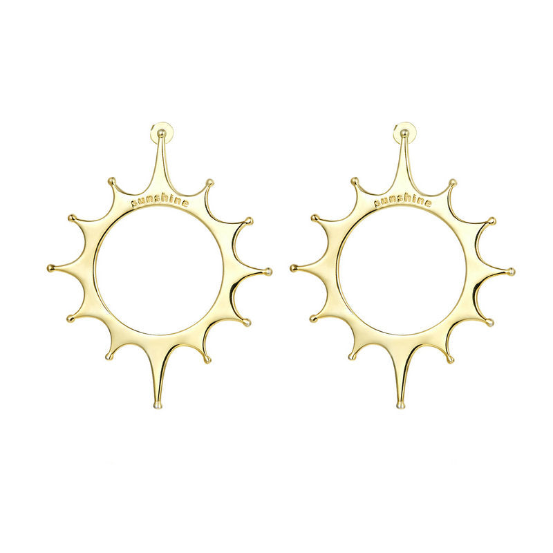 BAMOER GOLD SUN EARRINGS YIE145