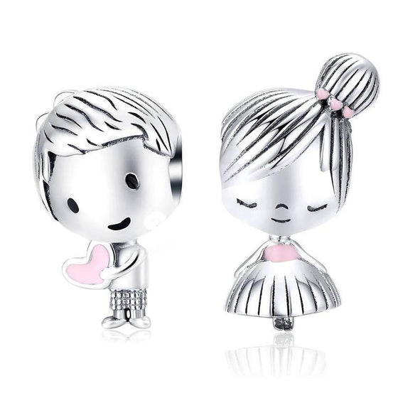 bamoer Boy and Girl Charm Beads Valentine Gifts SCC1334 | BAMOER