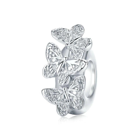 bamoer Butterfly Stopper Charm fit for European Luxury Snake Bracelet BSC120 | BAMOER