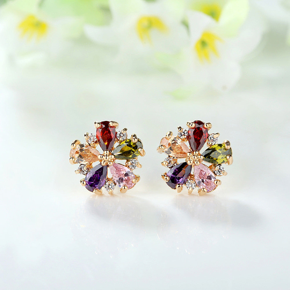 earrings love women punk new earringearrings statement bijoux fashion earring color vintage wedding silver stud crystal for flower