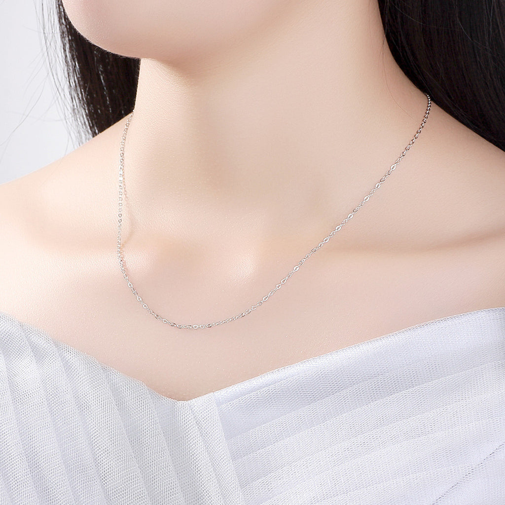 45CM Necklace Chain 925 Sterling Silver Lobster Clasp Adjustable Simple Chain Fashion Necklace Jewelry  SCA010-45