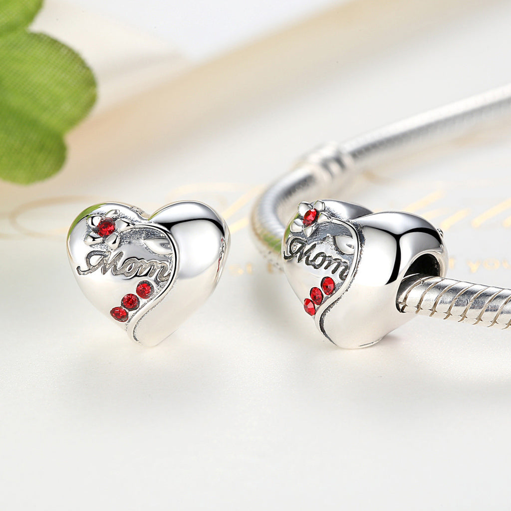 925 Sterling Silver Famliy Trees Series Love Mom DIY Bracelet Beads Mothers Day Gift  SCC004