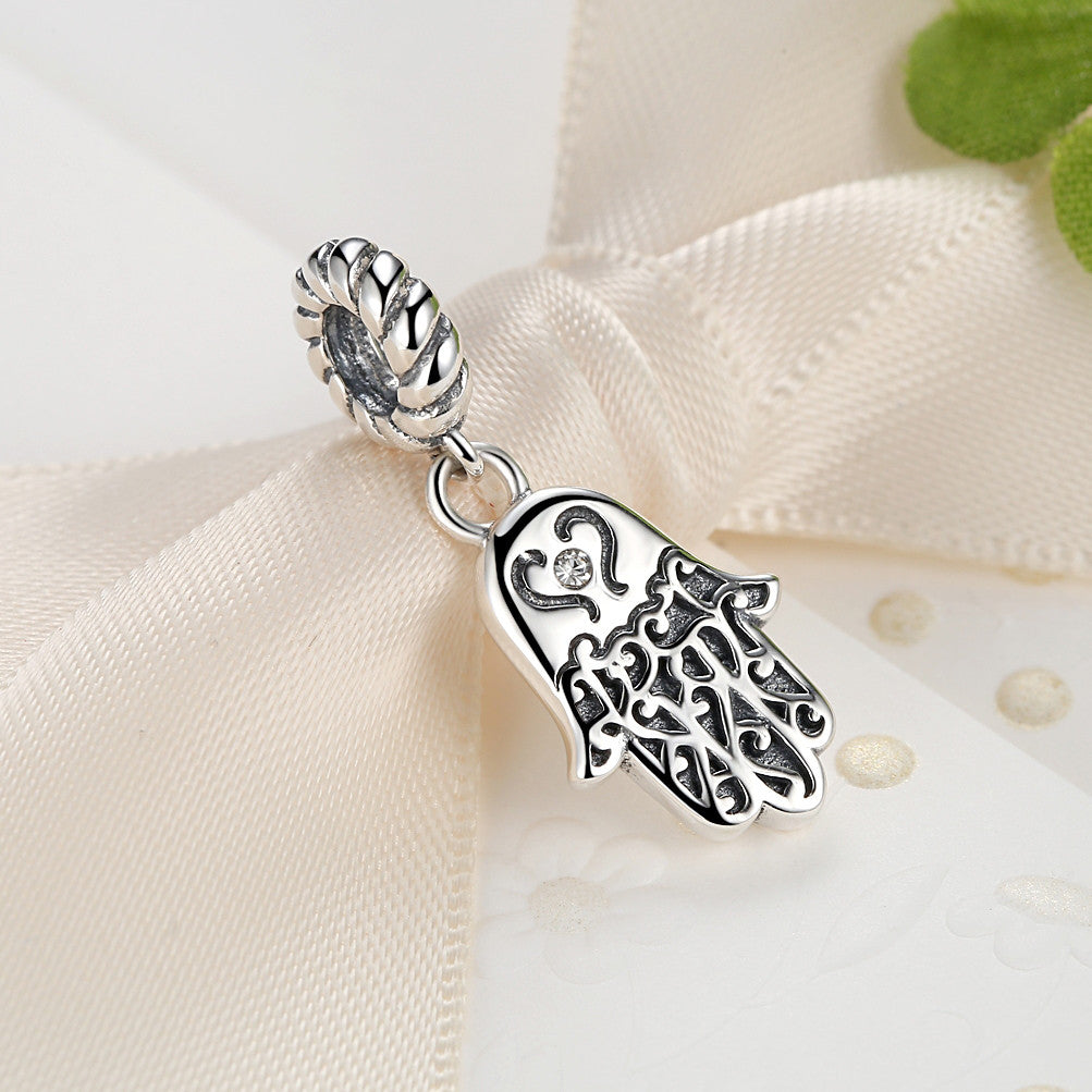 925 sterling silver lovely lucky symbol egyptian fatima hamsa hand 925 sterling silver lovely lucky symbol egyptian fatima hamsa hand pendant necklace for women and men buycottarizona Gallery