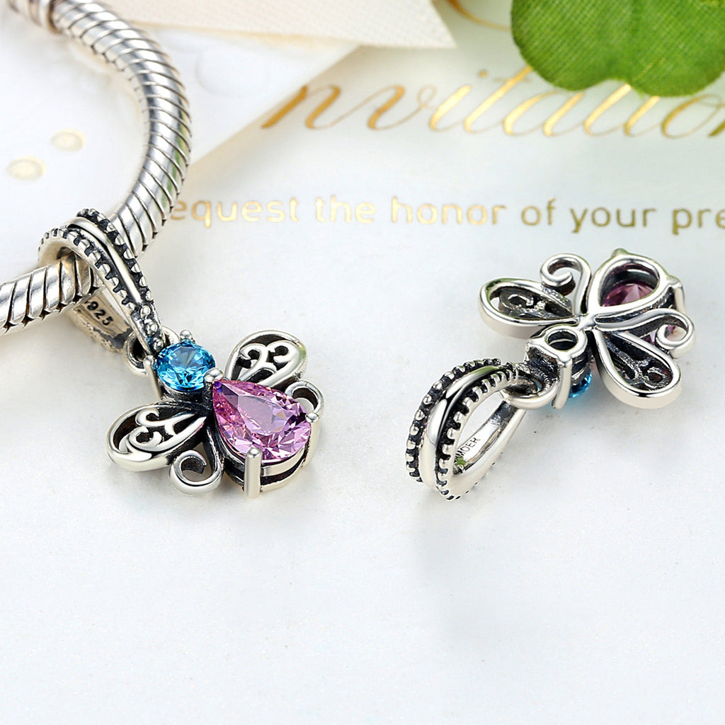New Arrival 925 Sterling Silver Bee Insects Charms Pendants fit Bracelets for Women Beads & Jewelry Makings SCC046