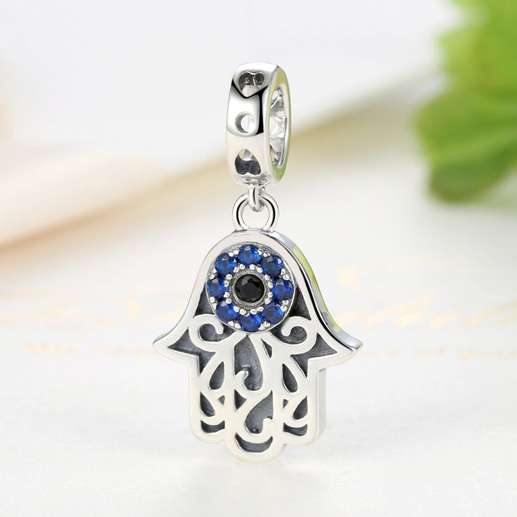 Eye Design Series 100% 925 Sterling Silver Blue Evil Eye Pendant Fit Bracelets & Bangles Fashion  Jewelry SCC085