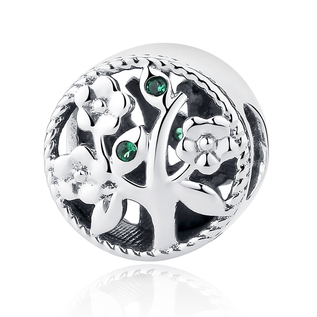 Fashion 100% 925 Sterling Silver Tree of Life Bead Charms Fit Pandora Bracelets Women Beads & Jewelry Making SCC115
