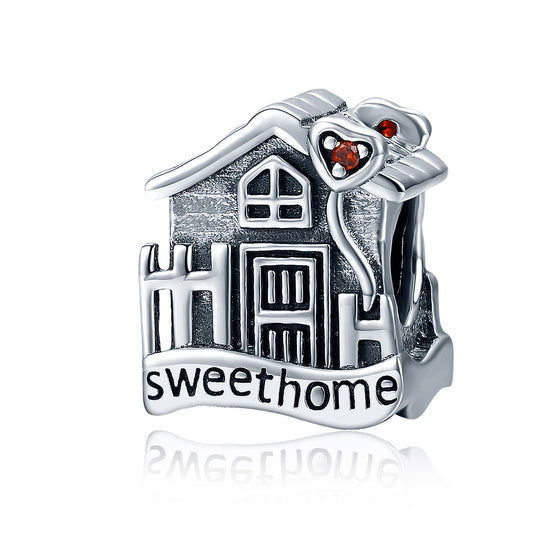 Fashion New Genuine 100% 925 Sterling Silver Sweet Home Loft Villa Charms fit Bracelets DIY Fine Jewelry SCC416