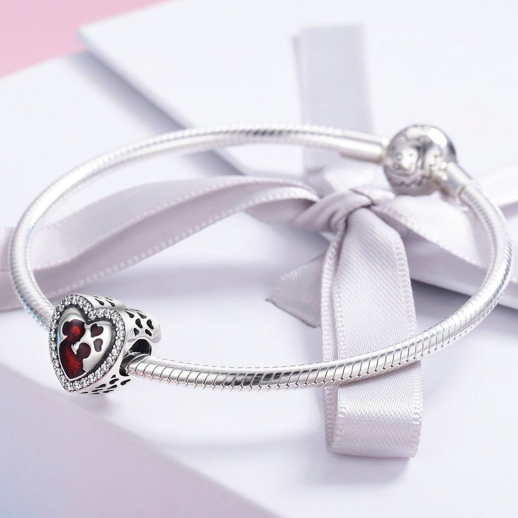 100% 925 Sterling Silver Great Mother's Love Heart Engrave Charm Beads fit Bracelet & Necklace Jewelry Mother Gift SCC634