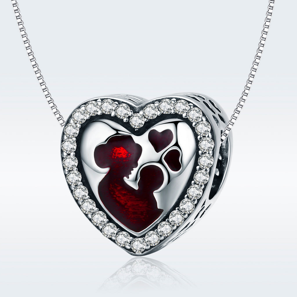 Mother's Love Heart Charm Beads