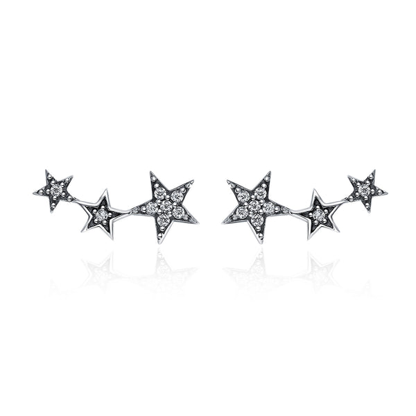 Authentic <b>925 Sterling Silver</b> Sparkling CZ Exquisite Stackable Star ...
