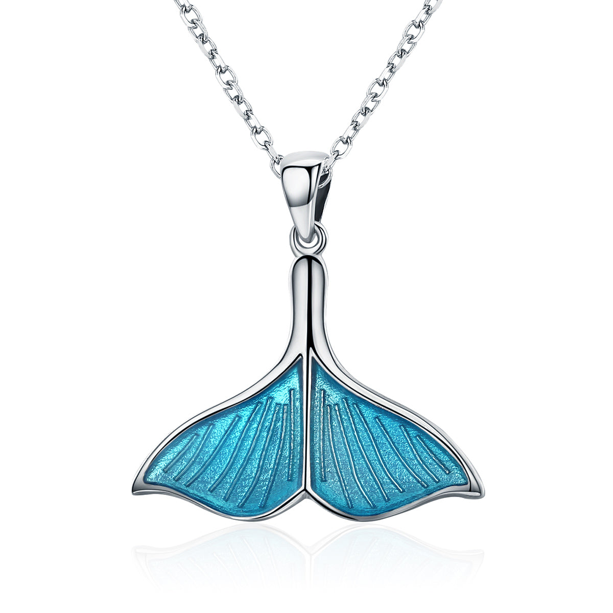 925 sterling silver ocean sea blue enamel fish whales tail pendant 925 sterling silver ocean sea blue enamel fish whales tail pendant necklaces women luxury silver jewelry mozeypictures Choice Image
