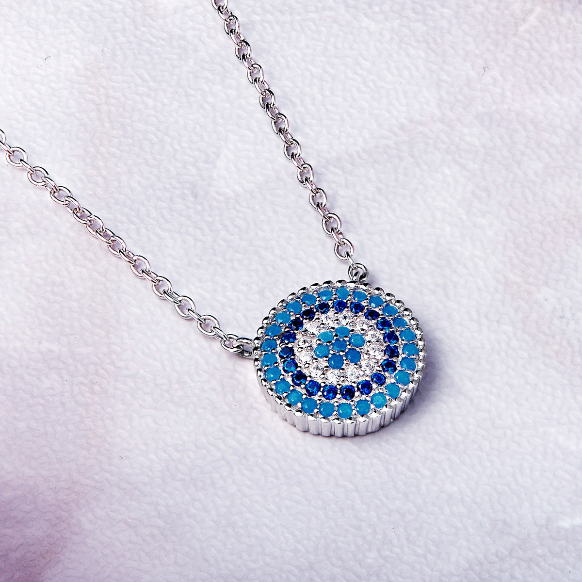 luxury com pendant details for necklace triangle studded delicate zircons mall crystal women tvc blue