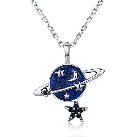 925 Sterling Silver Mysterious Planet Pendant Necklaces for Women Sterling Silver Jewelry SCN230