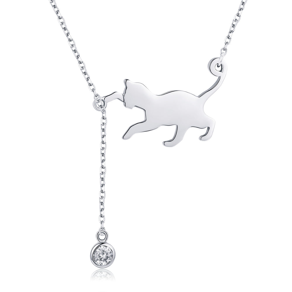 """Cute 925 Sterling Silver Puppy Dog Charm Pendant Necklace With 18/"""" Chain"""