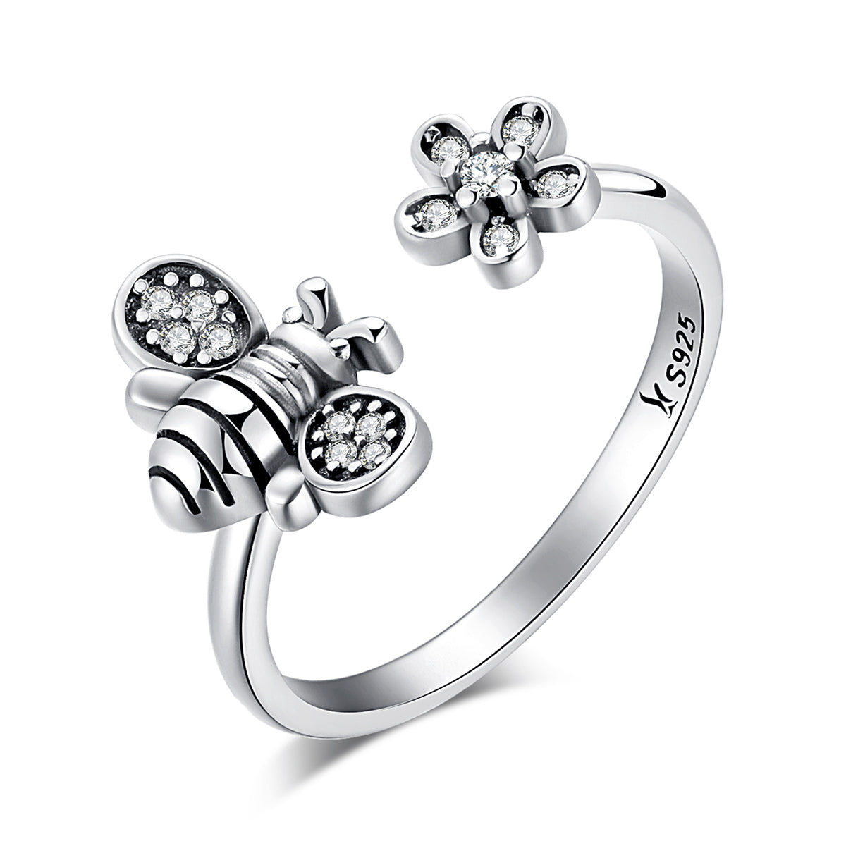 rings silver products daisy ring madison audrey flower sterling engagement pink
