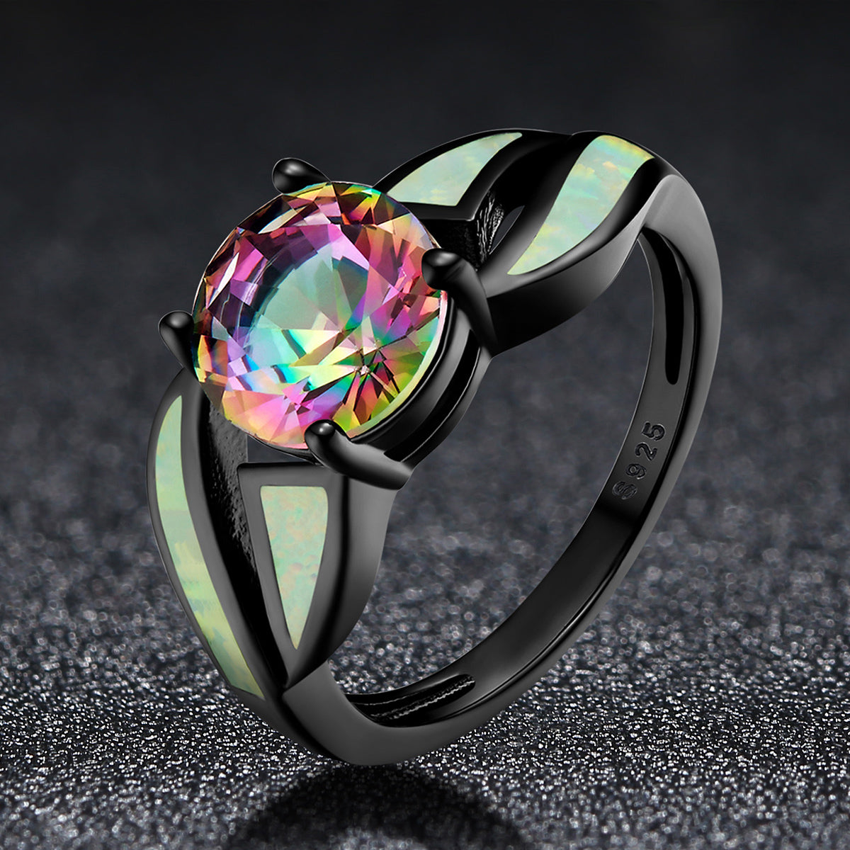opal natural fire gift shape product gold gemstone austrialian with in image moissanite box aust oval rose products ring