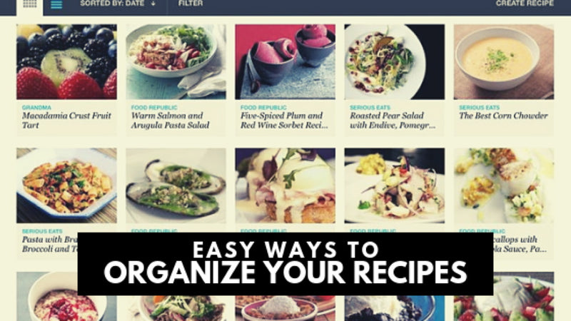 Easy Ways to Organize Your Recipes