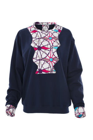 Providence African Print Sweat Shirt