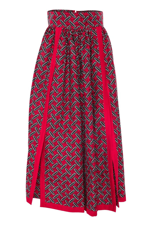 African High Double Slits Maxi Skirt COCOLICIOUS