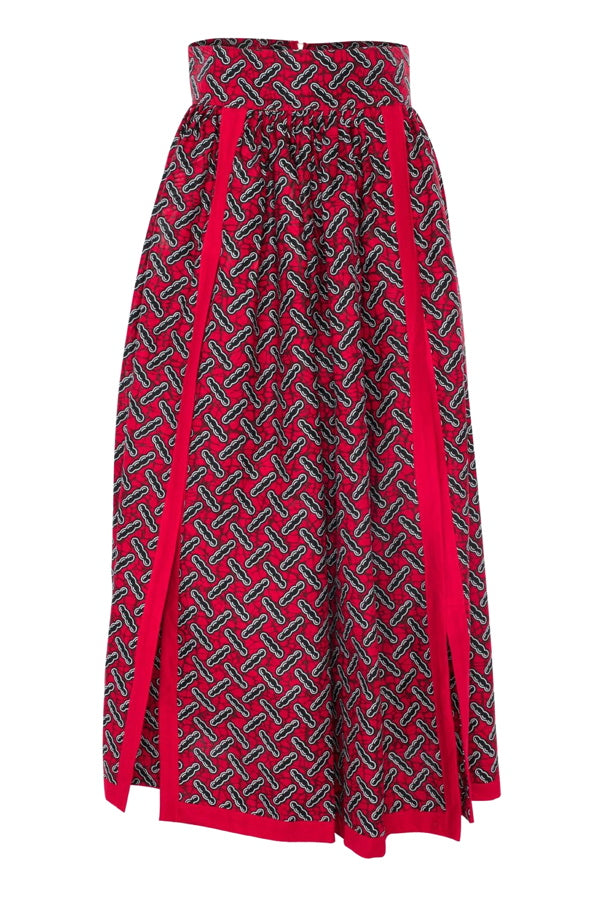 african maxi skirt african print women maxi skirt double split fashion wax and wonder