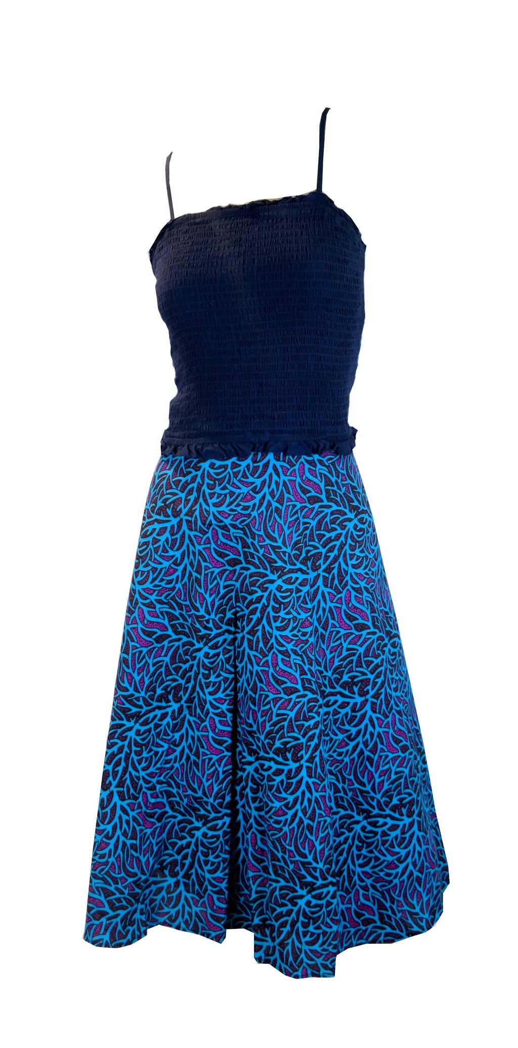 Wrapped in Print - African Print Wrapped Skirt - Size L/XL
