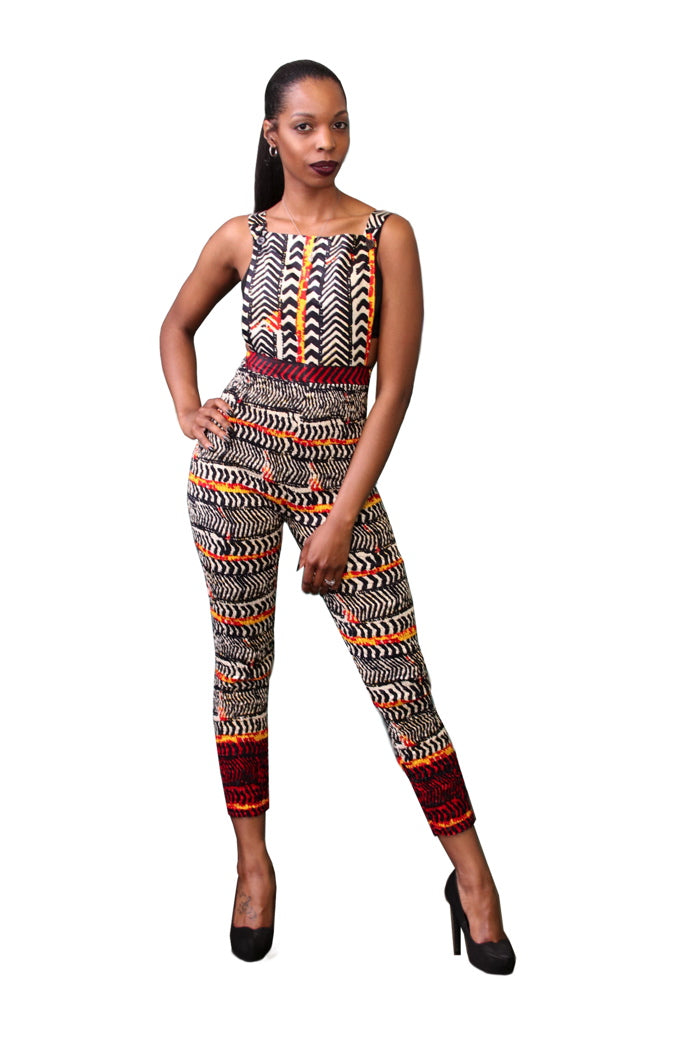 Forever Curves African Print Jumpsuit