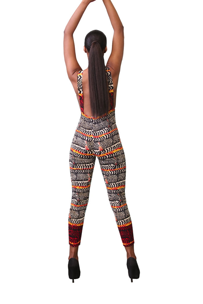 african jumpsuit stretchy african fashion wax and wonder