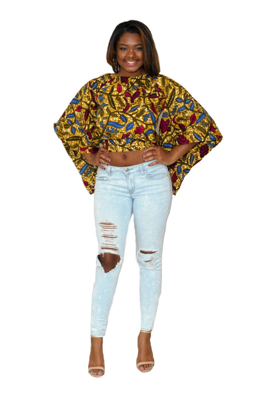 Dare to Shine African Print Top