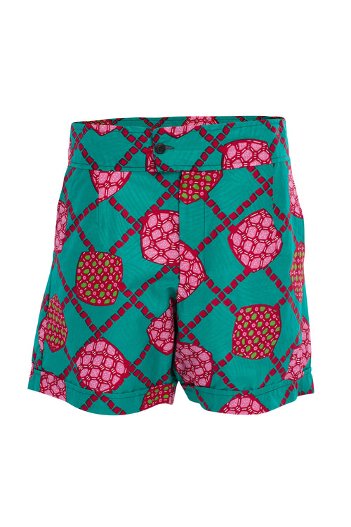 Enjoy Being Different African Print Shorts