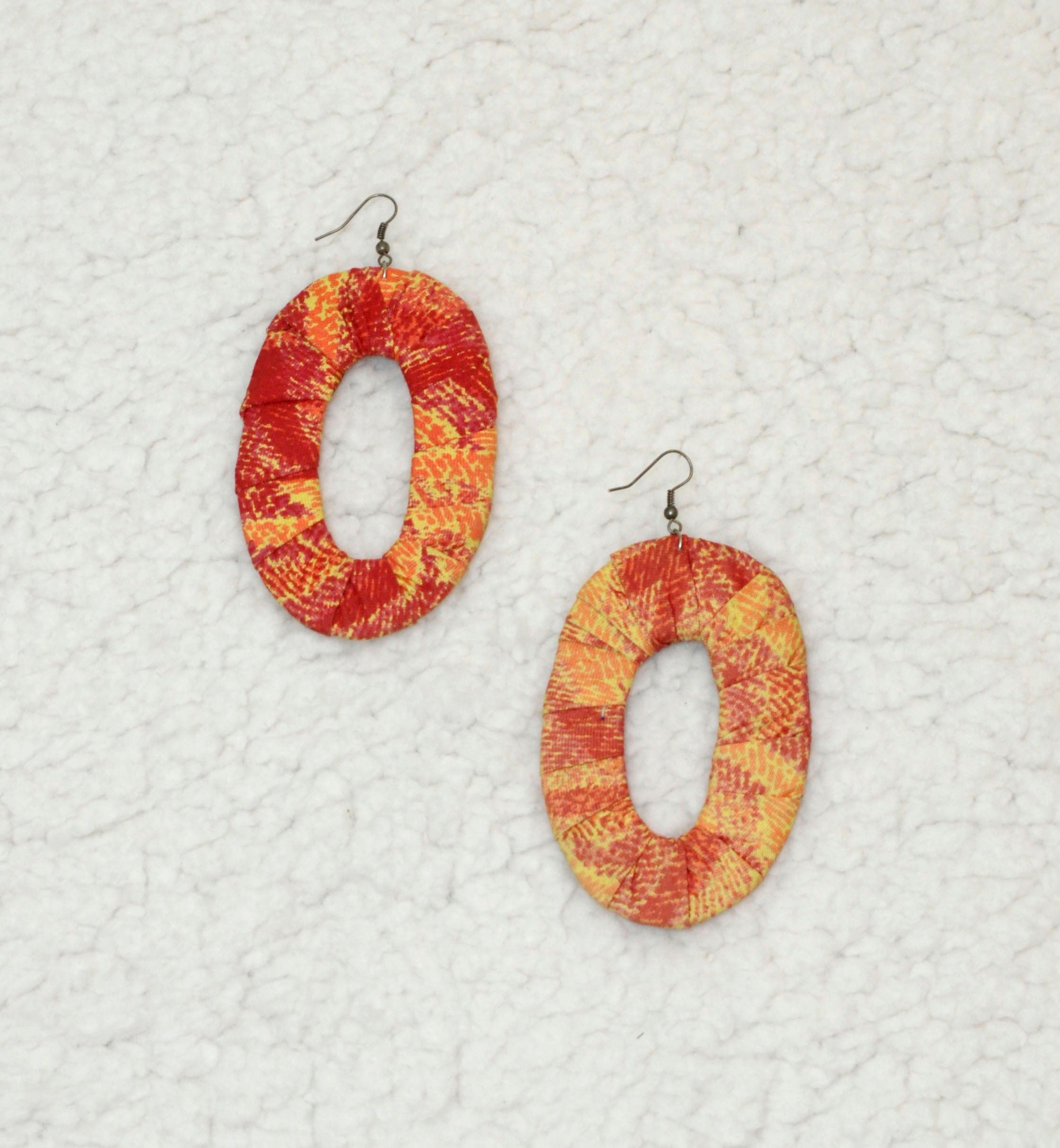 Fancy Hoops African Print Earrings