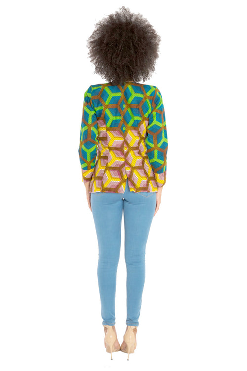 I Make Things Happen African Print Blazer