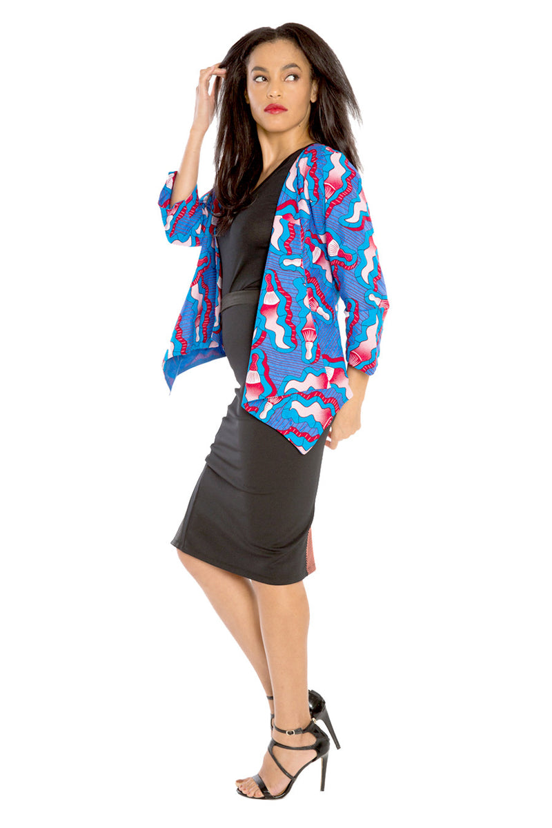 I Mix Work and Play African Drape Blazer