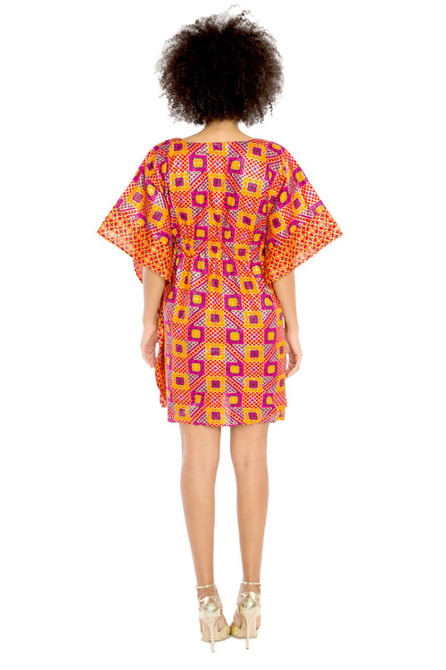 I Am Every Woman African Print Flowy Dress