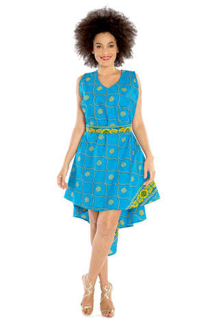 Blossoming Tulip Peplum Dress - Skirt Convertible