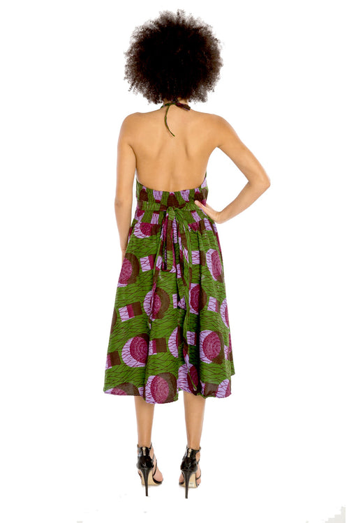 African Print Halter Dress - Wrapped in Love (Short)