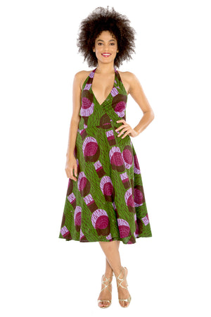 African Halter Dress WRAPPED IN LOVE (Short)