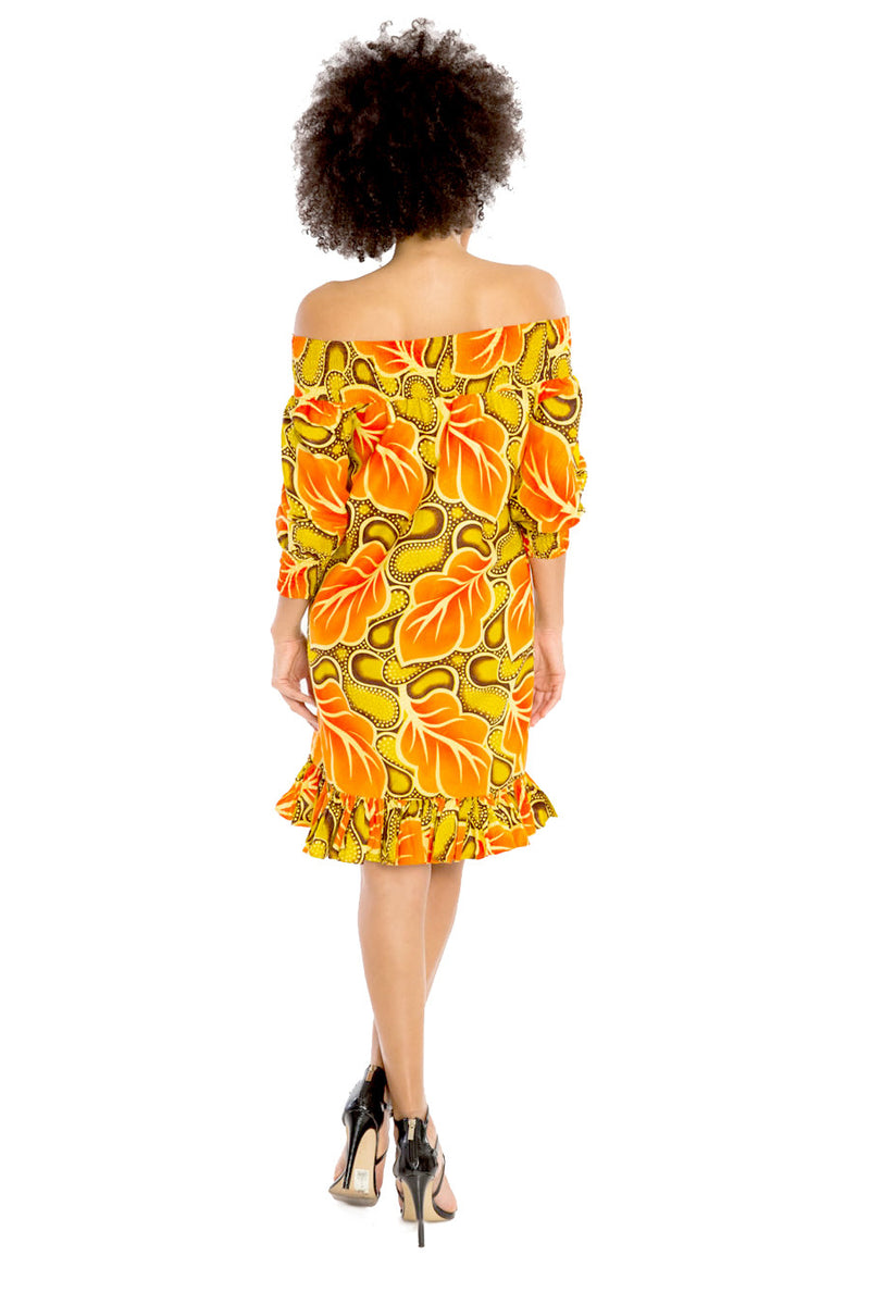 African Smock Off Shoulder Dress WHEN IN DOUBT, USE ME