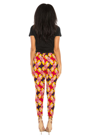 Afri-Jeggings African Print Fitted Pants