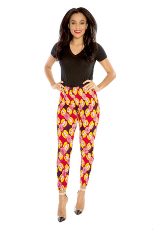 African Pants Afri-Jeggings Smocked Pants