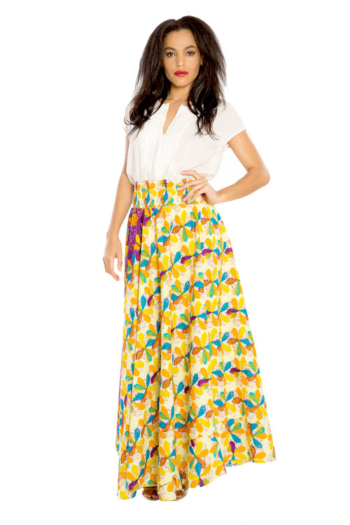 I am a Bohemian Beauty African Print Maxi Skirt