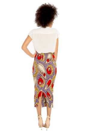 I Make Others Smile African Smocked Skirt