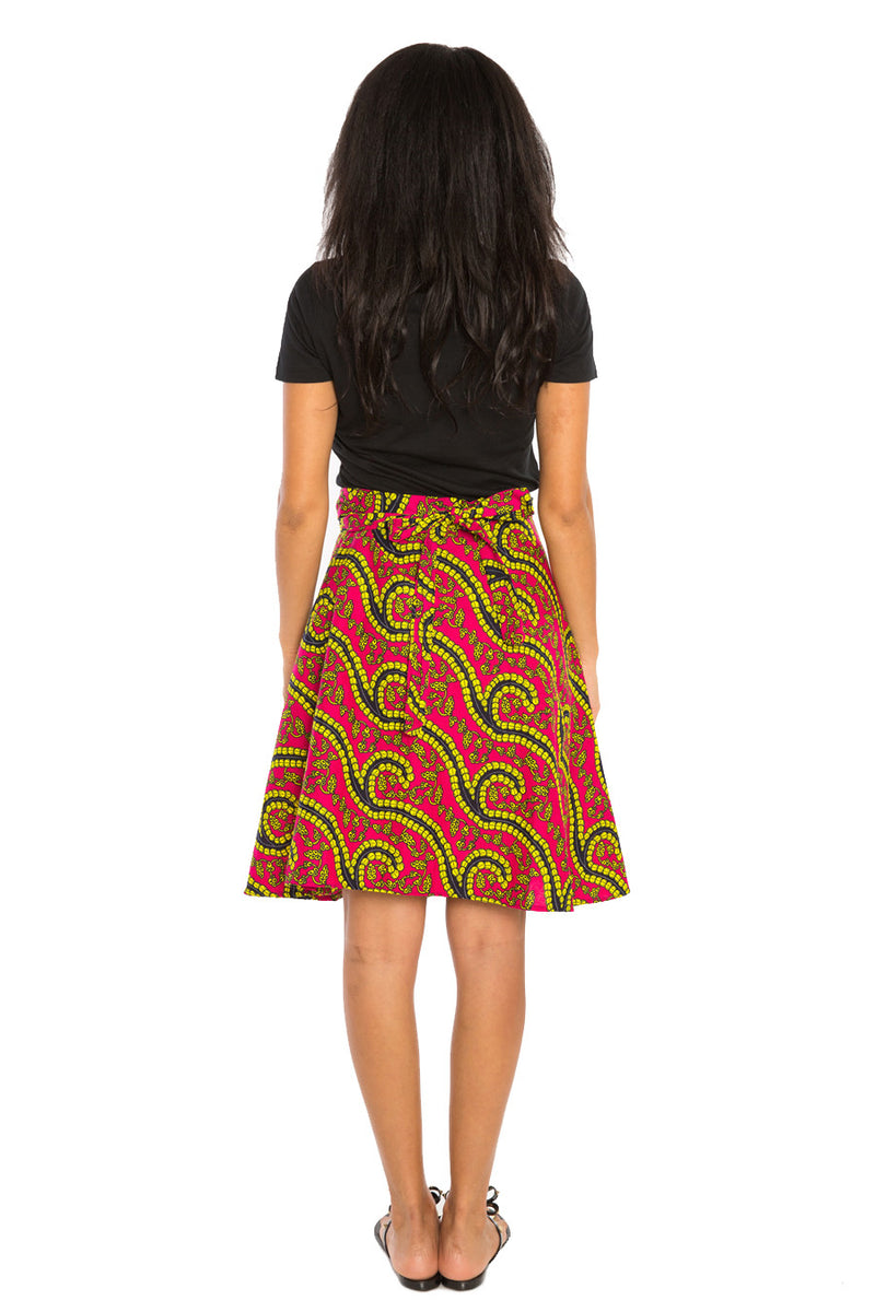 Wrapped in Print (Short) African Print Skirt