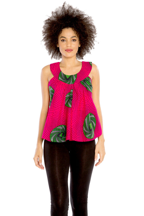 Barrow Breeze - African Print Loose Fitted Top