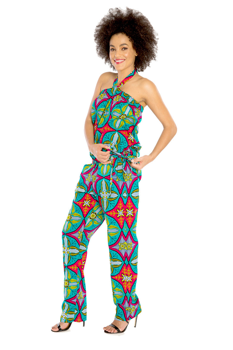 Jump for My Love African Print Jumpsuit